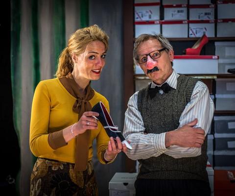 AMSTERDAM - Repetitie Popje hou je muil met Ilse Warringa en Servaes Nelissen. FOTO: DIEDERIK VAN DER LAAN